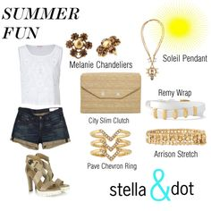Summer Fun by lsksl on Polyvore featuring Juicy Couture, rag & bone and Stella & Dot