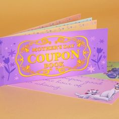 Mothers Day Coupon Book - Great idea for kids to do special chores and likes as coupons used by Mom whenever.