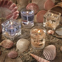 Beach Wedding Favors | Beach Candle Wedding Favors - Pack of 4