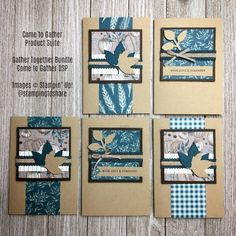 Come to Gather Suite from Stampin' Up! Beautiful cards with the Gather Together Bundle and Come to Gather Designer Series Paper Hand Stamped Cards, Fall Cards, Sympathy Cards, Masculine Cards, Thank You Gifts, Diy Craft Projects, Stampin Up Cards, Note Cards, Cardmaking