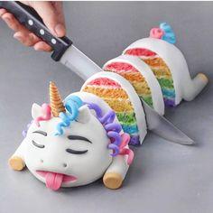 Un gâteau licorne original ! #unicornfood #licorne #unicorn #gâteau #cake