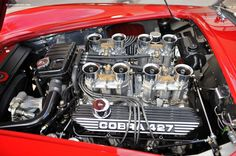 Photographs of the 1966 Shelby Cobra Roadster. Chassis number Automobiles of Arizona by RM Auctions. An image gallery of the 1966 Shelby Cobra. Motor Engine, Car Engine, Muscle Cars, Cobra Replica, Shelby Car, Crate Engines, Diesel, Performance Engines, Carroll Shelby
