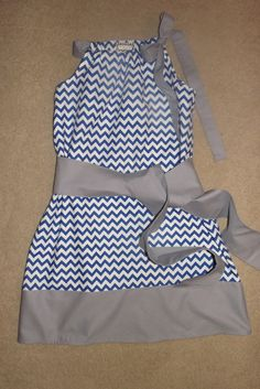 Any Team ... Chevron Gameday Dress in Kentucky Royal and White