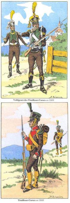 Voltigeurs des tirailleurs Corses en 1809 Tirailleurs Corses 1808