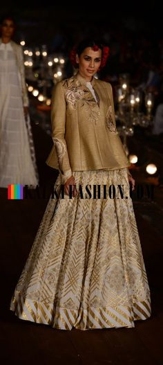 Rohut Bal showcasing his colliction name Gulbagh inspired by Kashmir and Mughal Gardens at Wills Lifestyle Fashion Weekhttp://www.kalkifashion.com/designers/rohit-bal.html