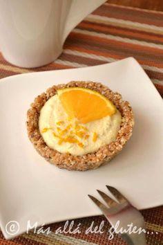 Más allá del gluten...: Mini-Tortas de Queso con Naranja Crudiveganas (Receta SCD, GFCFSF, Vegana, RAW)