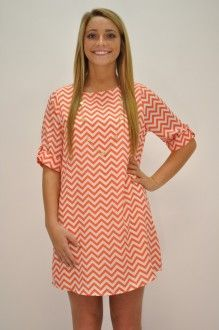 The Orange Everly Chevron Dress, need we say more! Love it! Buy while supplies last!