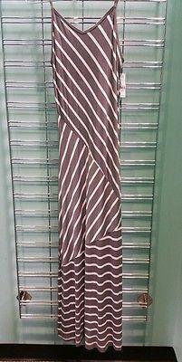 9579dc5260c3b NY and Co Maxi dress long grey white Full length size x-small xs sundress