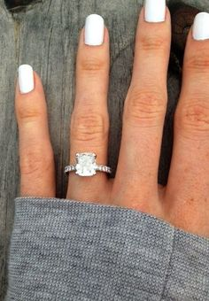 2.5 Carat Cushion Cut Ring. Im kind of obsessed