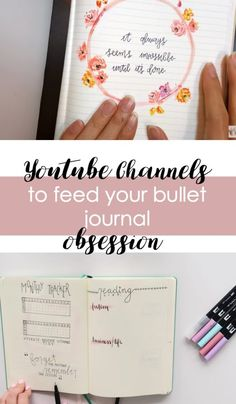 Check out these inspiring YouTube Channels for bullet journal inspiration, tips, tutorials, and more.
