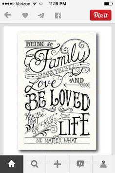 Not the words but the style Hand Lettering Quotes, Calligraphy Quotes, Brush Lettering, Handwritten Typography, Creative Lettering, Typography Quotes, The Words, Family Signs, Family Family
