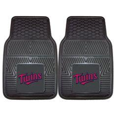"""MLB Minnesota Twins 2pc Vinyl Car Mats 17""""x27"""""""
