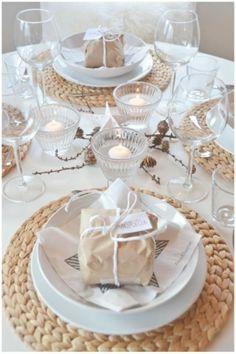 tafel wit met beige