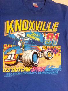 1991 Knoxville Nationals Sprint Car Racing Shirt | eBay
