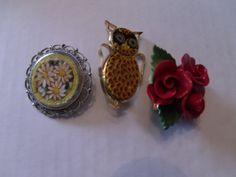 3 Brooches   all marked by andersonlures on Etsy, $14.00