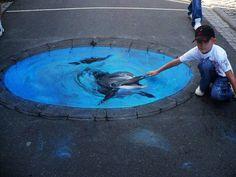 3D Street Art, dolphin