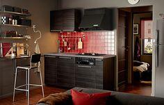 こじまんりとしたキッチンにすべての機能を収納