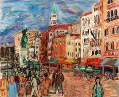 Riva Schiavoni the artist's site Cafe de la Paix le soir check out also: Joan Abello Spanish Artist Carlos Nadal Spanish E. Spanish Painters, Spanish Artists, French Artists, Raoul Dufy, Art Academy, Henri Matisse, Art Studies, Learn To Paint, Figure Painting