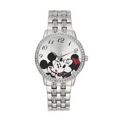 Disney's Mickey & Minnie Mouse Women's Crystal Watch