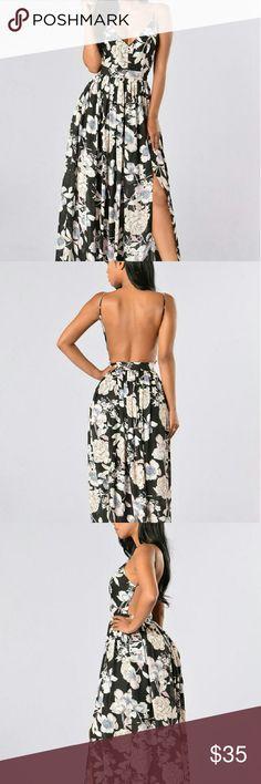 Dress Maxi dress, open back , side zipper, sold out quickly on fashion nova Fashion Nova Dresses Maxi