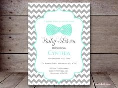 TLC405 editable a little man is on his way baby shower invitation
