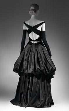 Evening Dress, 1948 from Charles James: Beyond Fashion Exhibit  Black silk satin and black silk velvet