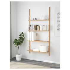IKEA - SVALNÄS, Wall-mounted shelf combination, , With a spacious storage solution everything has its place; makes it easy to find your things.Shelves of different depths and widths mean you have space for everything from trinkets to books. Ikea Wall Shelves, Wall Mounted Bookshelves, Svalnäs Ikea, Boutique Deco, Shelving Systems, Modular Shelving, Shelf Brackets, Cube Storage, Storage Organizers