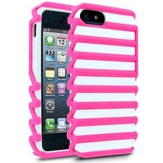 iLuv Pulse I Case for Apple iPhone 5 - Pink/White: I love this cover, just got it...it's so funky!