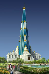 The International Society for Krishna Consciousness (ISKCON) is doing the ground breaking ceremony at Mathura, the birth place of Lord Krishna, to build the world's tallest temple. It will be a 700 feet high skyscraper spread over an area of 5.5 acres and also have 70 floors. The ISKCON is hoping to complete the work in the next 5 years.
