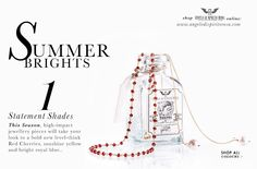 Summer Brights, Red Garnet with Pearls