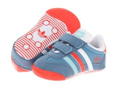 adidas Originals Kids First Step Dragon (Infant) St Stonewash Blue/Hi Res Red/White - Zappos.com Free Shipping BOTH Ways