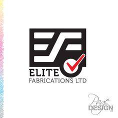 Logo design for Elite Fabrications Ltd, NZ Page Design, Cousins, Letters, Graphic Design, Logos, Fabric, Tejido, Tela, Logo