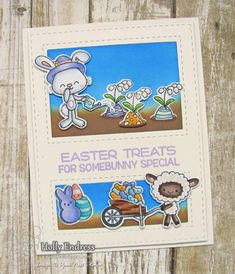 Your Next Stamp:  Window Panel die and Adorable Spring Treats stamp and coordinating die sets  #yournextstamp