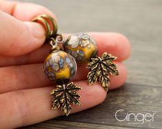 Earrings with autumn beads, Casual women jewelry, lampwork beads earrings, Handmade Jewelry, birthday gift, mustard color Beaded Earrings, Earrings Handmade, Handmade Jewelry, Drop Earrings, Lampwork Beads, Beautiful Earrings, Mustard, Birthday Gifts, Great Gifts