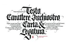 Giovanni Mardersteig quote - 2012 | by Luca Barcellona - Calligraphy & Lettering Arts