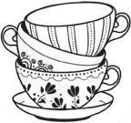 Tea cups stack