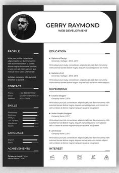 Professional CV And Resume Template AI, PSD