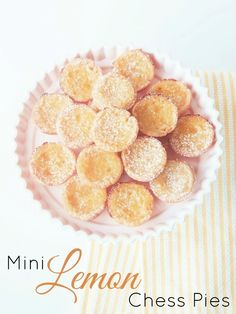 Mini Lemon Chess Pies