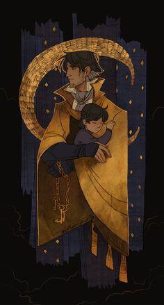 my original character - Shaman of the North Nodakatu, his Spirit and Star Tree.