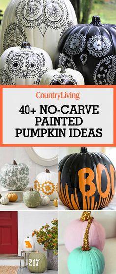 Painted pumpkins Goofy face, Face and Holidays - halloween pumpkin painting ideas