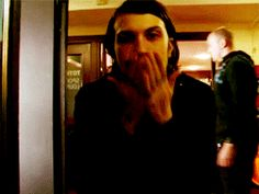 Frank Iero blowing you a kiss