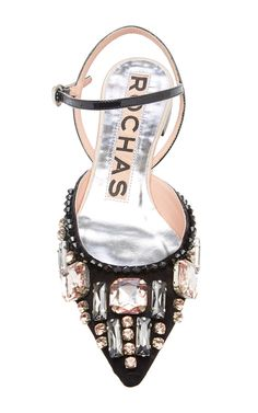 Embellished Satin Flat by Rochas for Preorder on Moda Operandi