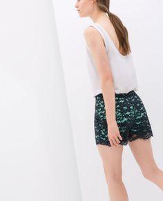 LACE SHORTS - Trousers - WOMAN | ZARA Turkey