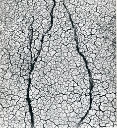 dried mud texture by American photographer Aaron Siskind
