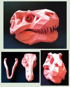 T-Rex Skull Papercraft by Gedelgo.deviantart.com on @DeviantArt