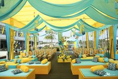 Photo of Yellow and blue tent decor for a day mehndi cermeony The Effective Pictures We Offer You About wedding decorations burgundy A quality picture can tell you many things. You can find the most b Desi Wedding Decor, Wedding Hall Decorations, Marriage Decoration, Tent Decorations, Wedding Mandap, Wedding Ideas, Wedding Receptions, Wedding Events, Mehendi Decor Ideas