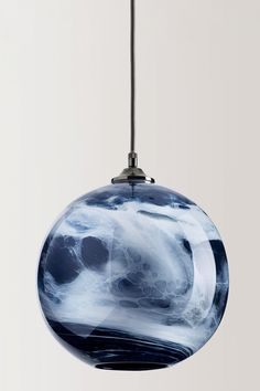 Sodalite Blue Mineral Pendant shown unlit, from Rothschild & Bickers
