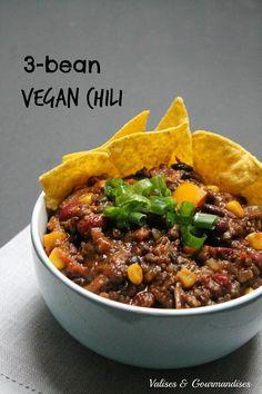 3-bean vegan chili - Valises & Gourmandises