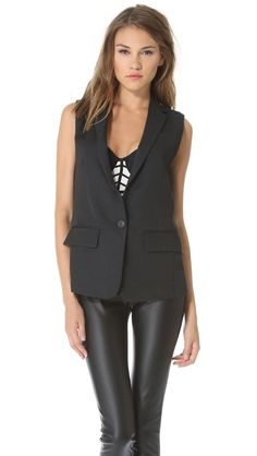Club Monaco Maya Sleeveless Blazer* this is a closet staple...goes with anything...leather....denim ..or take it up a notch