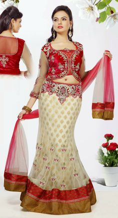 Dainty Off White Net Ready Made #Ghaghra #Choli